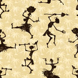 Seamless pattern with dancing people. Vector illustration Royalty Free Stock Photo