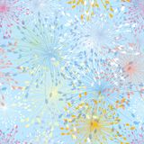 Seamless pattern of dandelion Stock Images