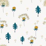 Seamless pattern with dandelion flower vector illustration