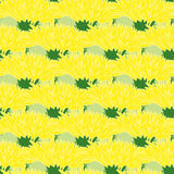 Seamless pattern with dandelions. Background with yellow flowers bloomed heads. Vector illustration Royalty Free Stock Photography