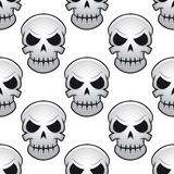 Seamless pattern of danger skulls Stock Photo