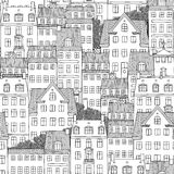 Seamless pattern of Danish style houses Royalty Free Stock Photos