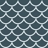 Seamless pattern dark blue background vector illustration. Seamless pattern fish scale texture cartoon style dark blue background vector illustration Stock Photo