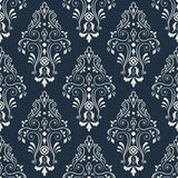 Seamless  pattern on a dark blue. Stock Images