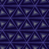 Seamless pattern with dark blue triangle shapes Royalty Free Stock Photography