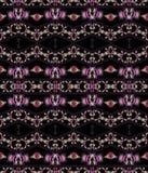 Seamless pattern dark brown pink violet green Royalty Free Stock Photos
