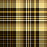 Seamless pattern in dark brown, white and yellow colors for plaid, fabric, textile, clothes, tablecloth and other things. Vector image vector illustration