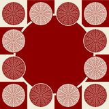 Seamless pattern in dark red colors Stock Photography