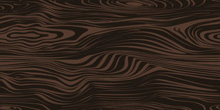 Seamless Pattern With Dark Wood Texture Stock Image