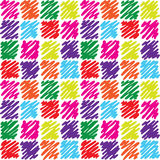 Seamless pattern with dashed squares Royalty Free Stock Images