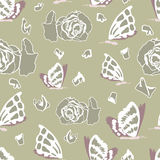 Seamless pattern with dead butterflies Stock Photo