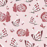 Seamless pattern with dead butterflies Stock Images