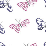 Seamless pattern with dead butterflies Royalty Free Stock Photography