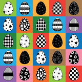 Easter egg pattern Royalty Free Stock Image