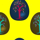Seamless pattern with decorated Easter eggs Stock Image