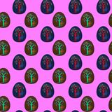 Seamless pattern with decorated Easter eggs Royalty Free Stock Photo