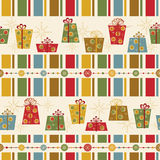 Seamless pattern with decorated  gifts Stock Image