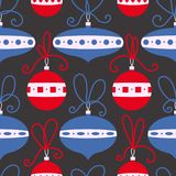 Seamless pattern with decoration balls. Christmas background. royalty free illustration