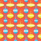 Seamless pattern with decoration balls. Christmas background. Ve Stock Photography