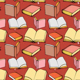 Seamless pattern with decorative books Royalty Free Stock Photo