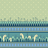 Seamless pattern with decorative border Royalty Free Stock Photo