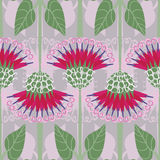 Seamless pattern with decorative burdock Royalty Free Stock Photos