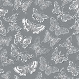 Seamless pattern with decorative butterflies Stock Photography