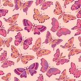 Seamless pattern with decorative butterflies Stock Image