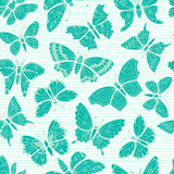Seamless pattern with decorative butterflies Stock Images