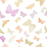 Seamless pattern with decorative butterflies Royalty Free Stock Images