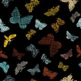 Seamless pattern with decorative butterflies Royalty Free Stock Image
