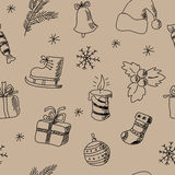 Seamless pattern with decorative Christmas elements Stock Photography