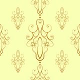 Seamless pattern of decorative contour elements Stock Images