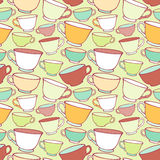 Seamless pattern with decorative cups Stock Images