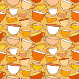 Seamless pattern with decorative cups Royalty Free Stock Photography