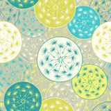 Seamless pattern with decorative dandelion Stock Image