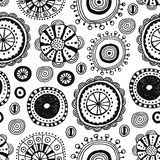 Seamless pattern of decorative design elements hand drawn, doodles Stock Images