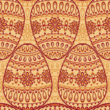 Seamless pattern with decorative eggs Royalty Free Stock Photo