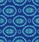 Seamless pattern with decorative ellipses Stock Image