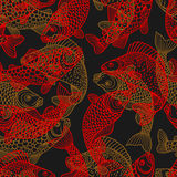 Seamless pattern with decorative fish. Background made without clipping mask. Easy to use for backdrop, textile. Wrapping paper Stock Image