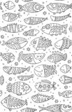 Seamless pattern with decorative fish Royalty Free Stock Image