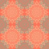 Seamless pattern. Decorative floral pattern in beautiful colors. Vector illustration Royalty Free Stock Photos