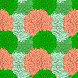 Seamless pattern. Decorative floral pattern in beautiful colors. Vector illustration Stock Photography