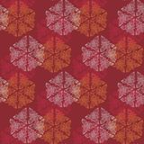 Seamless pattern with decorative floral pattern. Seamless pattern with geometric pattern stock illustration