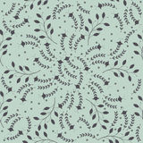 Seamless pattern with decorative floral silhouettes Stock Photo