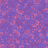 Seamless pattern with decorative flowers. Royalty Free Stock Photos