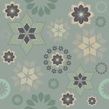 Seamless pattern with decorative flowers and abstract elements Stock Image