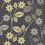 Seamless pattern with decorative flowers Royalty Free Stock Photography