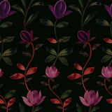 Seamless pattern of decorative flowers. royalty free stock photos