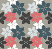 Seamless pattern with decorative flowers Stock Photography